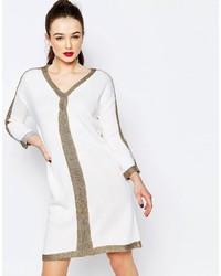 Vestido Jersey Estampado Blanco de Love Moschino