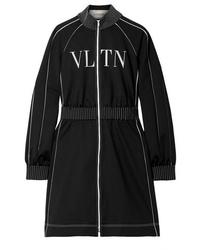 Vestido jersey estampado en negro y blanco de Valentino
