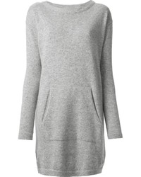 Vestido jersey gris