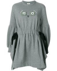 Vestido jersey gris de Fendi