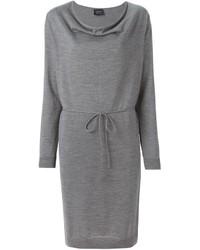 Vestido jersey gris de Lanvin