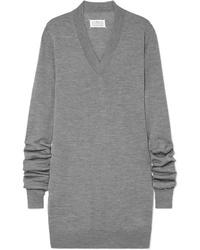 Vestido jersey gris de Maison Margiela