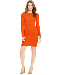 Vestido jersey naranja original 10228336