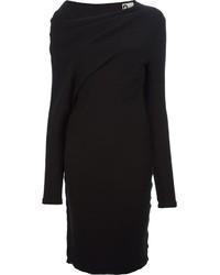 Vestido jersey negro de Lanvin