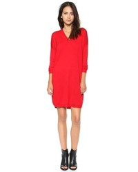 Vestido jersey rojo