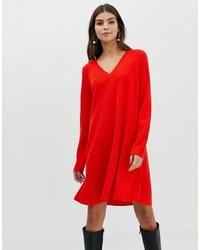 Vestido jersey rojo de ASOS DESIGN