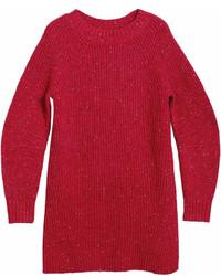 Vestido jersey rojo de Burberry