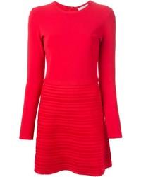 Vestido jersey rojo de Valentino