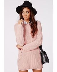 Vestido jersey rosado