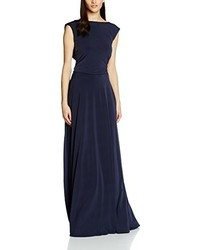 Vestido largo azul marino de Cho Atelier
