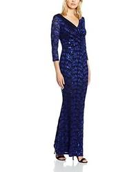 Vestido Largo Azul Marino de Gina Bacconi