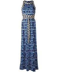 Vestido largo azul marino de Tory Burch
