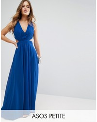 Asos robe longue bleu marine