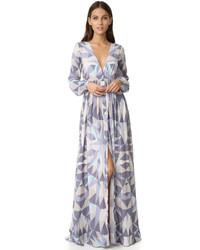 1f4e56fd3d Comprar un vestido largo con estampado geométrico gris  elegir ...