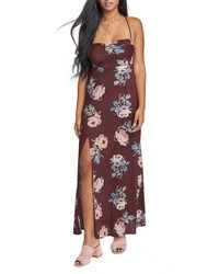Vestido largo flores zalando