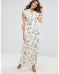 Vestido largo con print de flores en beige de Liquorish