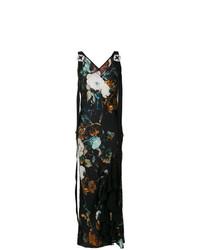Vestido largo con print de flores en multicolor de Antonio Marras