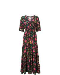 Vestido largo con print de flores en multicolor de Figue