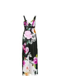 Vestido largo con print de flores en multicolor de Off-White