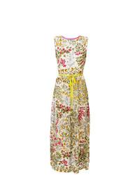 Vestido largo con print de flores en multicolor de RED Valentino