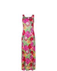 Vestido largo con print de flores en multicolor de Ultràchic