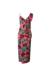 Vestido largo con print de flores rosado de For Love And Lemons