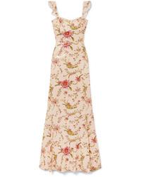 Vestido largo con print de flores rosado de Rachel Zoe