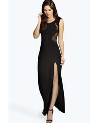 Zapatillas para un vestido negro largo