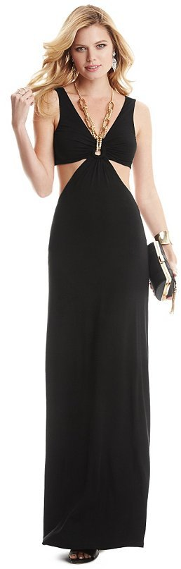 Vestido guess negro con dorado