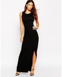 Vestido Largo con Recorte Negro de Lipsy