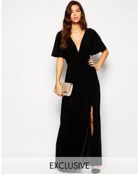 Vestido Largo con Recorte Negro de Love