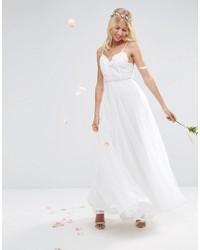 Vestido largo de encaje blanco de Asos