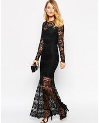 Como Combinar Vestido Largo Negro De Encaje Vestidos De