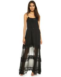 Comprar Un Vestido Largo Negro Haute Hippie Lookastic España