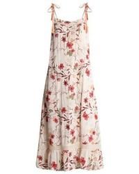 Vestido Largo de Flores Beige de Cream
