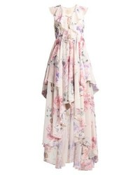 Vestido Largo de Flores Beige de Studio 75