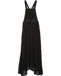 Vestido largo de gasa negro de Etoile Isabel Marant