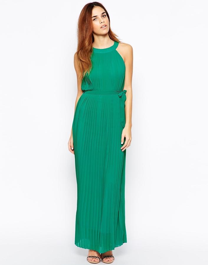 86 Vestido Largo De Gasa Verde