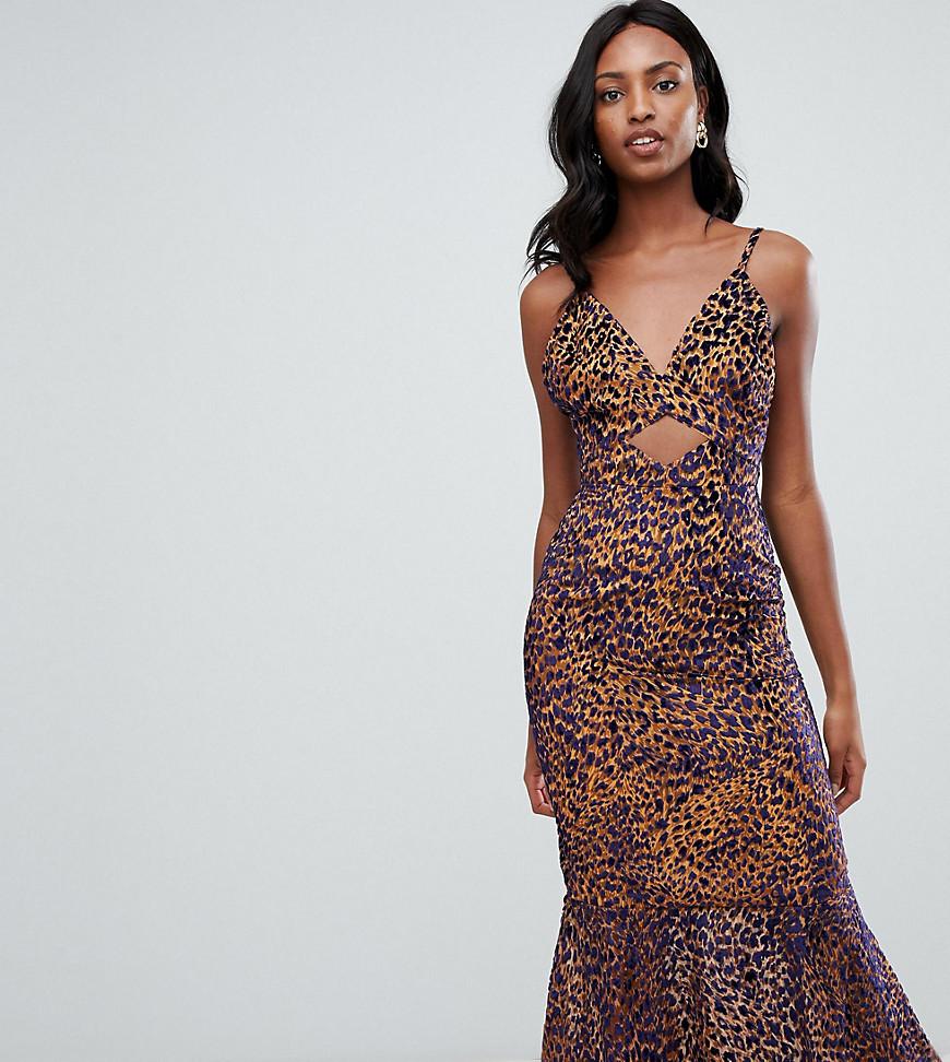 100% Calidad diseño superior muchas opciones de Vestido largo de leopardo marrón de Asos Tall