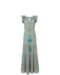 Vestido largo de paisley en multicolor de Figue