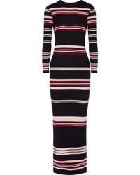 48a42f167 Comprar un vestido largo de rayas horizontales azul marino: elegir ...