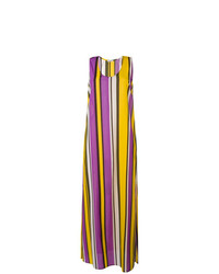 Vestido largo de rayas verticales en multicolor de P.A.R.O.S.H.