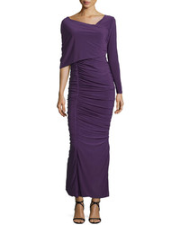 Vestido largo en violeta