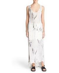 Vestido largo estampado blanco