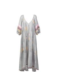 Vestido largo estampado gris de Lemlem