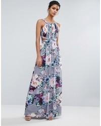 38bfcfd6f6 Comprar un vestido largo estampado gris  elegir vestidos largos ...