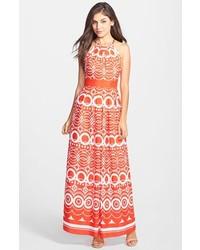 ccdf227d7 Comprar un vestido largo estampado naranja  elegir vestidos largos ...