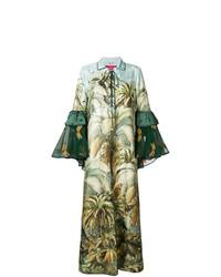 Vestido largo estampado verde de F.R.S For Restless Sleepers