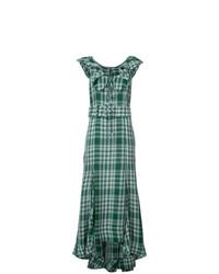 Vestido largo estampado verde de Rosie Assoulin