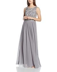Vestido largo gris de Frock and Frill